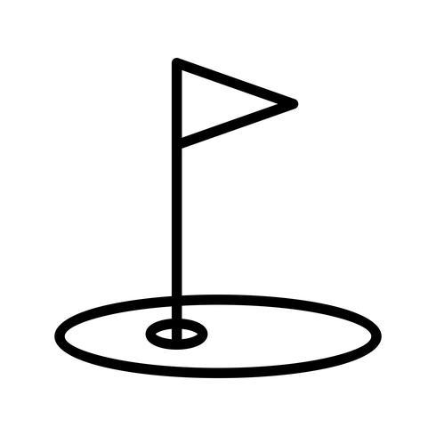 Golf-Ikonen-Vektor-Illustration vektor