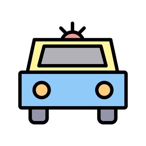 Vektor-Polizeiauto-Symbol vektor