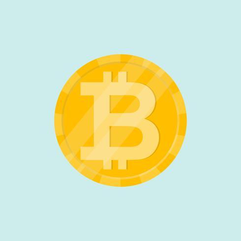Golden bitcoin digital valuta. Penning och finans symbol för Cryptocurrency vektor