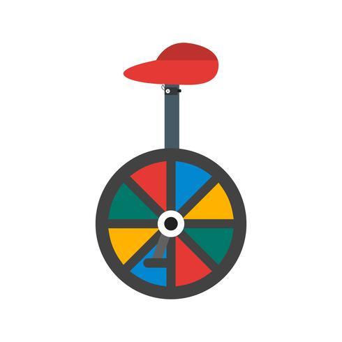Vektor-Einrad-Symbol vektor