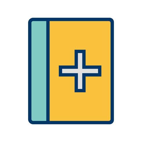 Vektor medizinische Buchsymbol