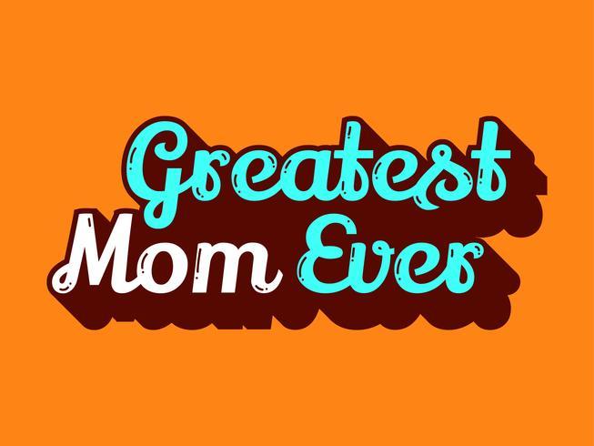 Storaste mamma någonsin vektor