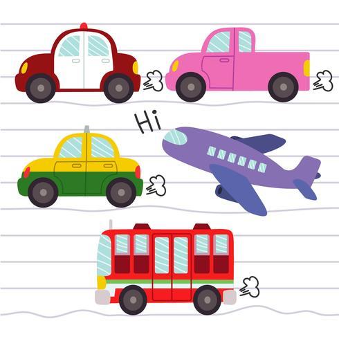 Diese Grafik ist die eingestellten Transportikonen. Illustrationsvektor. vektor