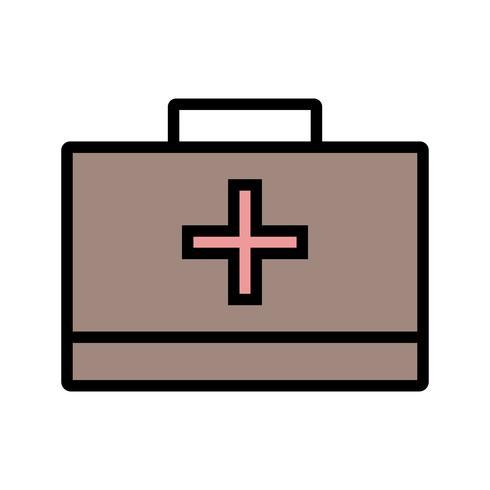 Vektor-Erste-Hilfe-Box-Symbol vektor
