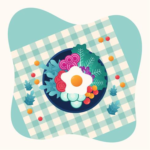 Vegetarisk måltid vektor