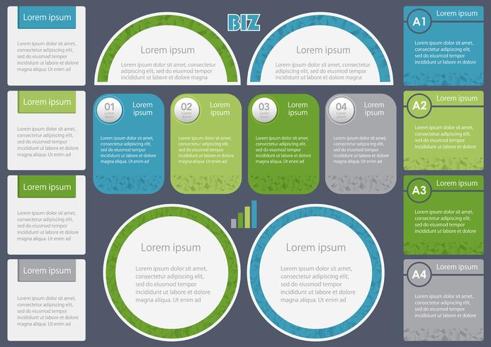 Sats av diverse etiketter, ramar och ikoner för företagsanvändning. vektor