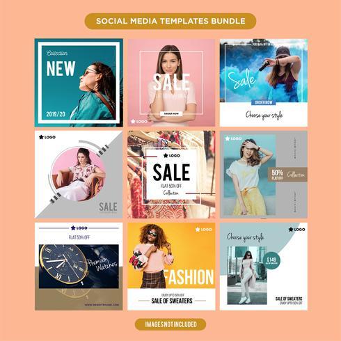 Multipurpose social media mall kit booster.sale och rabatt banner, lämplig för din marknadsföring vektor