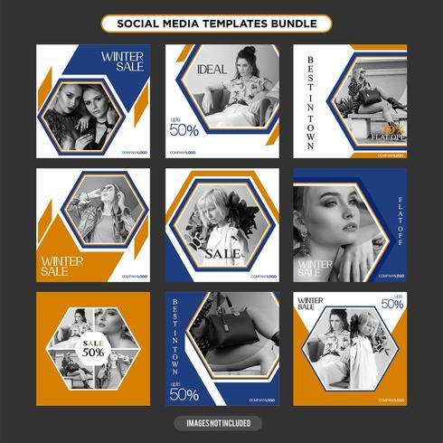 Mehrzweck-Vorlage für Social Media-Vorlagen, Booster.Sale- und Rabatt-Banner, geeignet für Ihre Promotion vektor