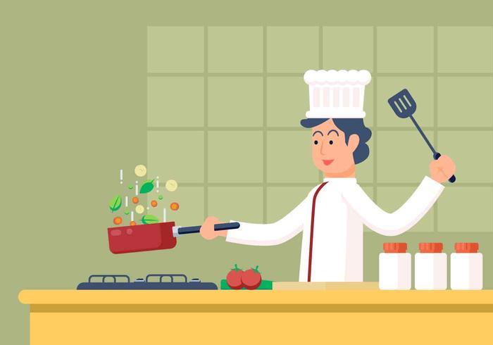 Chef-Vektor-Illustration vektor