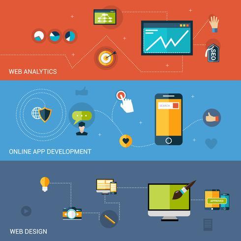 Webbutvecklingsbanner vektor