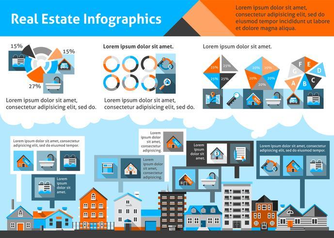 Fastighetsinfografik vektor