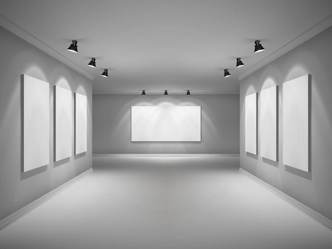 galleri interiör realistiskt vektor