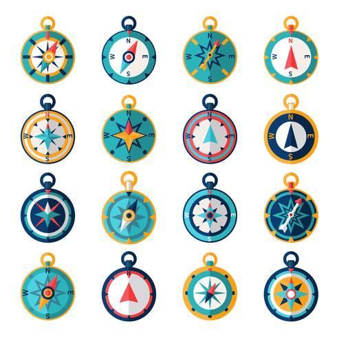 Kompass-Symbol flach vektor