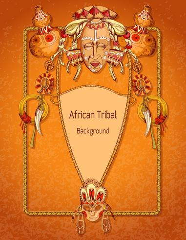Afrikansk färgad bakgrund vektor