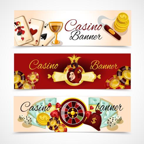 Casino-Banner-Set vektor