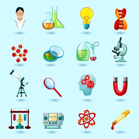Vetenskap ikoner uppsättning vektor
