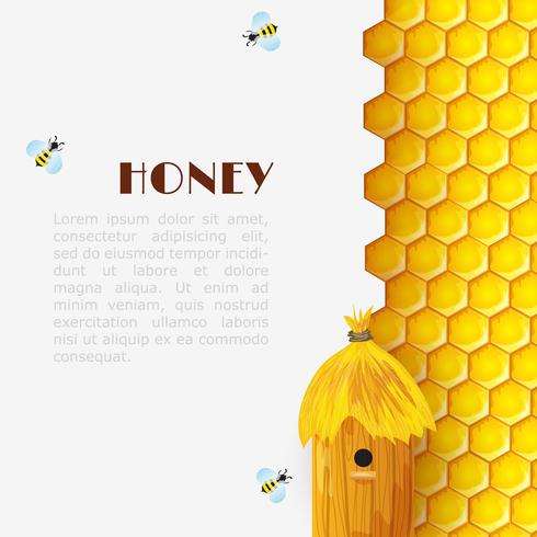 Honey Beehive Bakgrund vektor