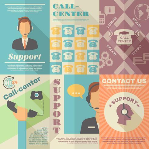Support-Callcenter-Poster vektor
