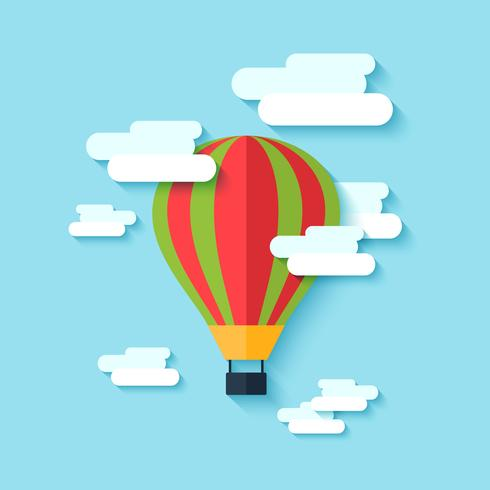 Varmluftsballongikon vektor
