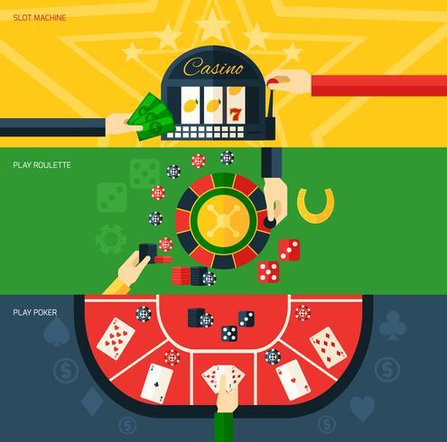 casino banner set vektor