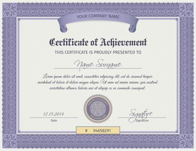 Qualifikationszertifikatvorlage vektor