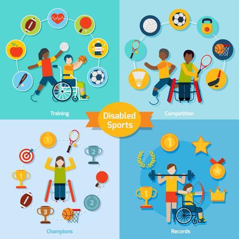 Sport-Set für Behinderte vektor