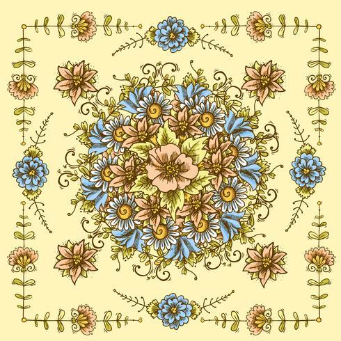Vintage Blumenmuster vektor