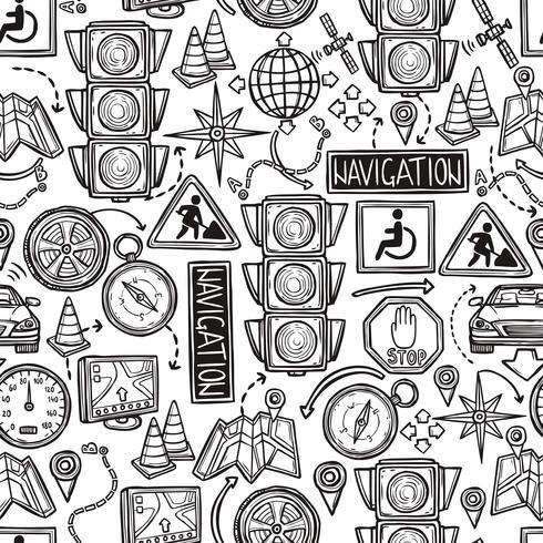 Navigation sömlös mönster vektor