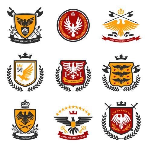 Adler Emblem gesetzt vektor