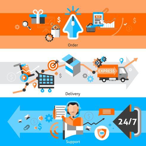 E-handel Banners Set vektor