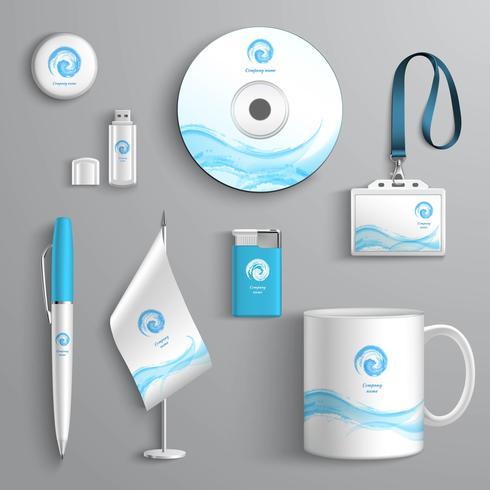 företagsidentitetsdesign vektor