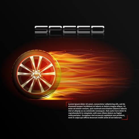 Brinnande hjulillustration vektor