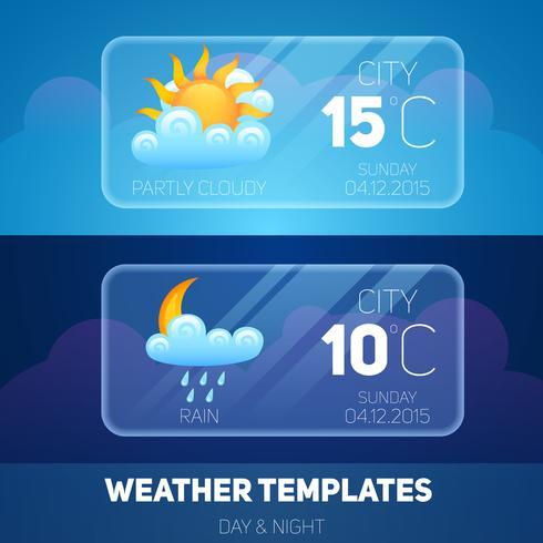 Väder Mobile Application vektor