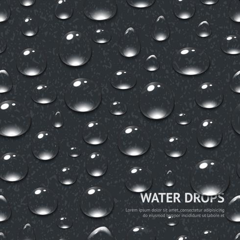 Vatten droppar sömlösa mönster vektor