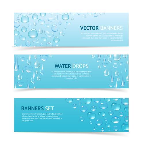 Wasser lässt Banner fallen vektor