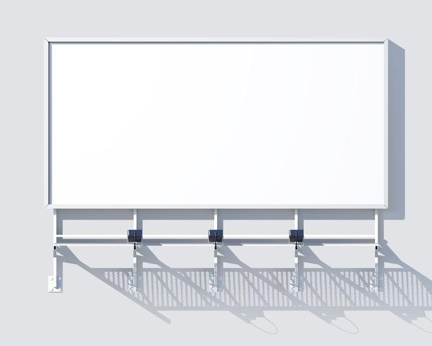 Galleri Billboard Blank vektor