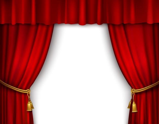 Bühnenvorhang isoliert vektor