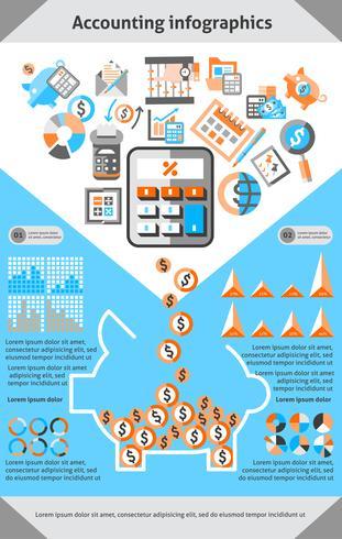 Redovisning av infographics vektor