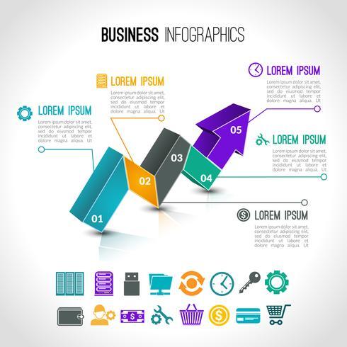 Företagskartor infografiska vektor