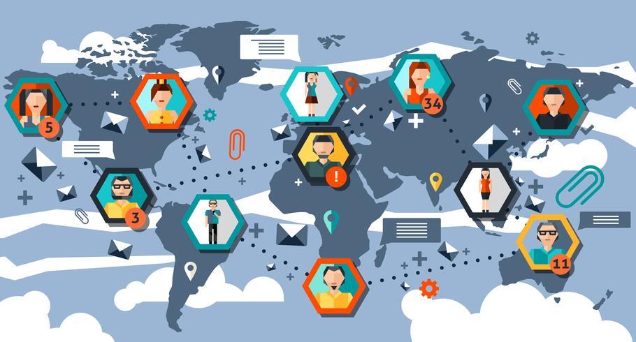 Sociala nätverk Infographics vektor