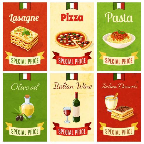 Italiensk mat Mini Poster vektor