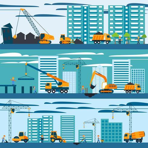 Konstruktion och byggnadskoncept vektor