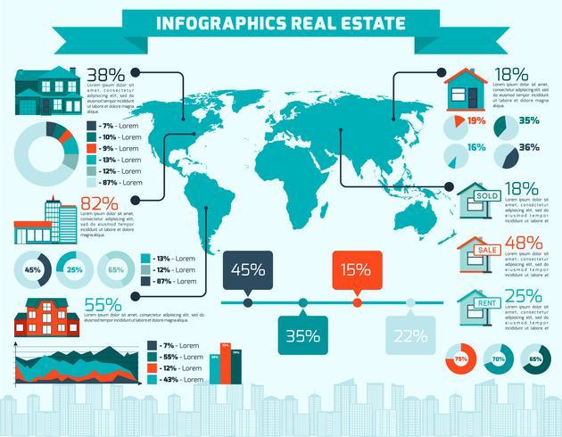 Immobilien-Infografiken vektor