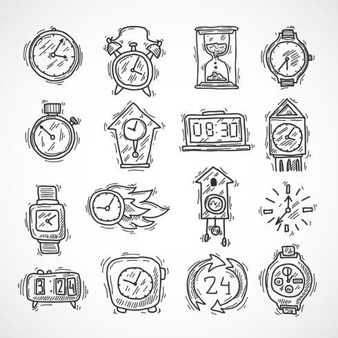 Inställningar för klockikon vektor
