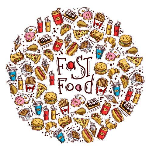Fast Food-Kreis vektor