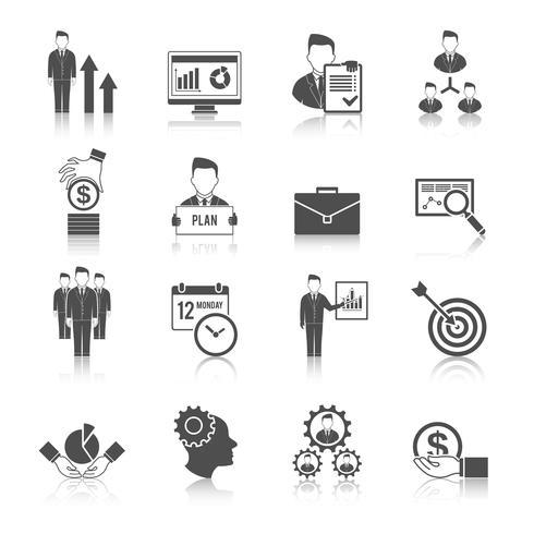 Management-Icon-Set vektor