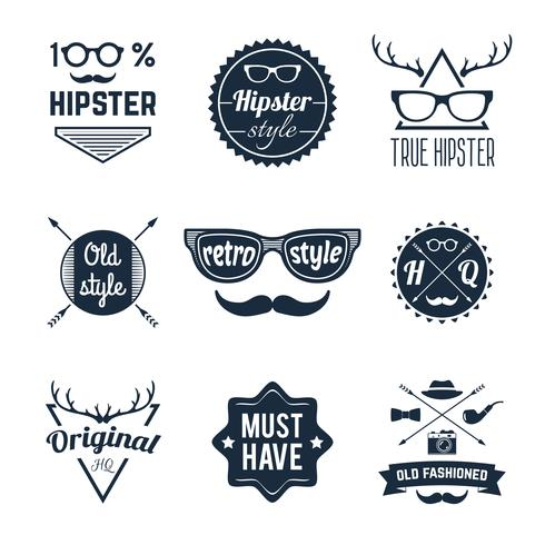 Hipster-Label-Set vektor