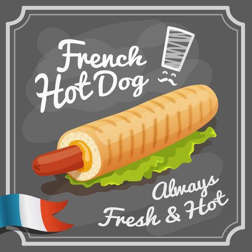 Französisches Würstchen-Plakat vektor