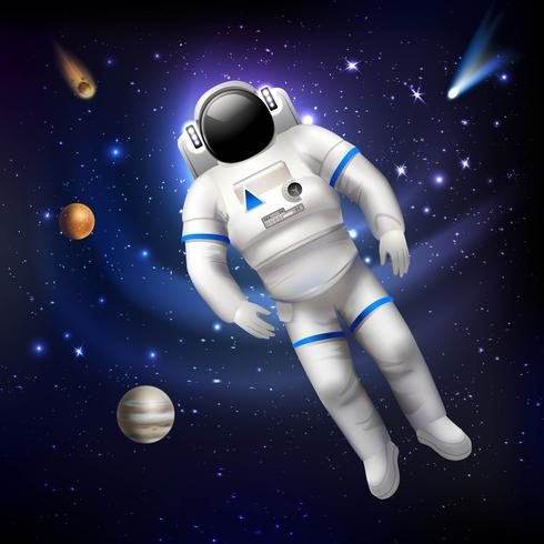 Astronaut im Weltall vektor