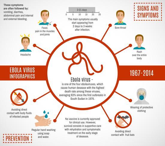Ebola virusinfographics vektor